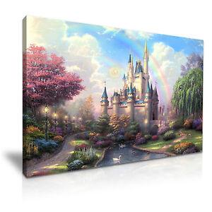Disney Castle  Kids Canvas Wall Art Picture Print 76x50cm Special Offer