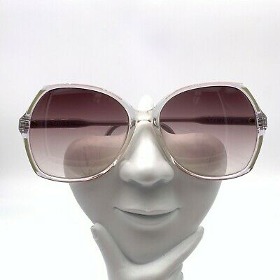 Vintage Gucci GG2102 Green Pink Translucent Oval Sunglasses Italy FRAME ONLY