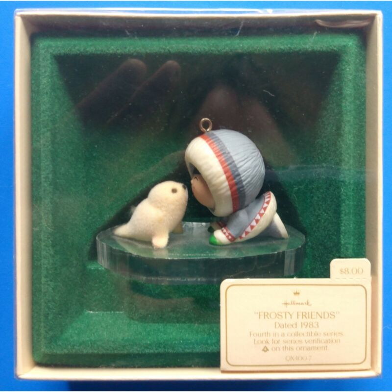 Hallmark 1983 Frosty Friends Keepsake Ornament 4th in Series Seal Eskimo QX4007