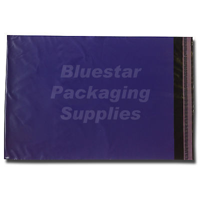 25 Purple Strong Polythene Postage Mailing Bags 17 x 22