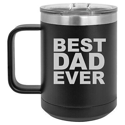 15oz Tumbler Coffee Mug Handle & Lid Travel Cup Vacuum Insulated Best Dad