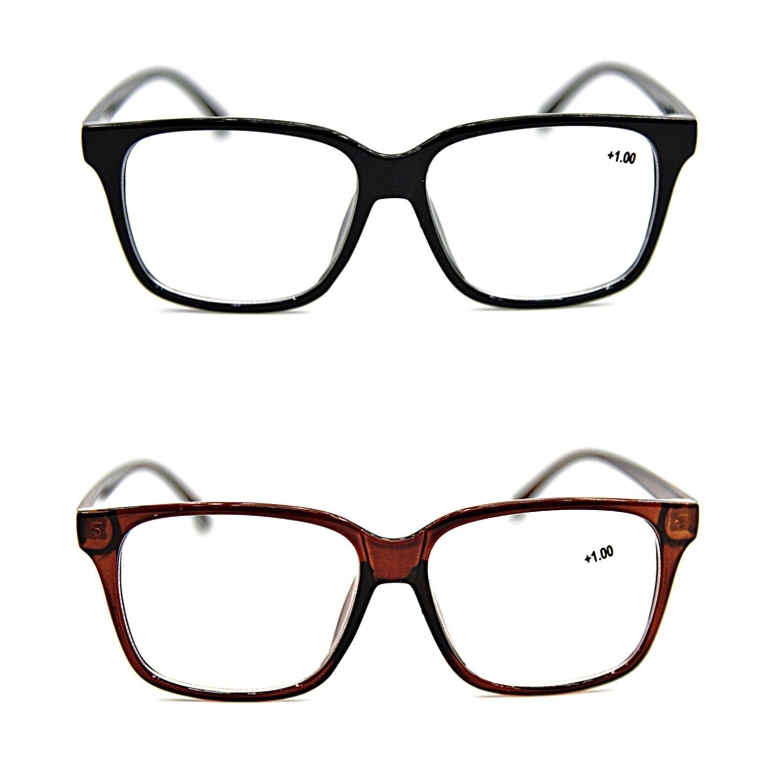 c4112dcbe576 Bifocal Large Unisex Stylish Reading Glasses in 2 Colours+1.0+1.5+2.0+2.5  DX2