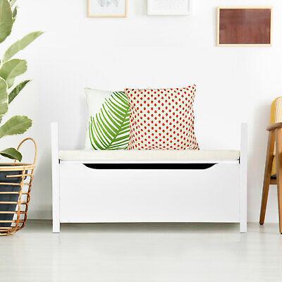 Modern Style Entryway Shoe Bench Storage Rack Cushion Seat