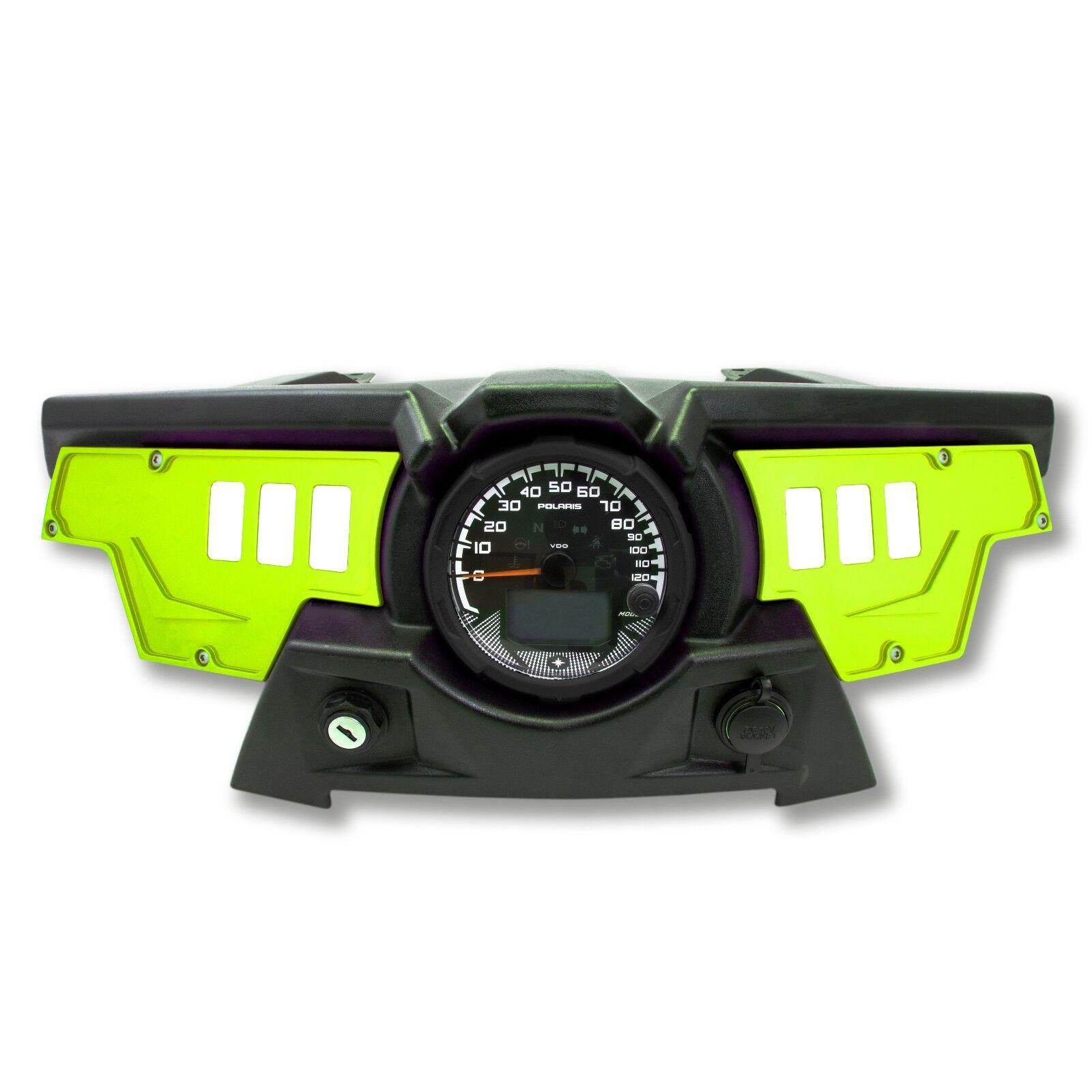 6 Switch Dash Panel Plates Custom for Polaris RZR XP1000 Lime