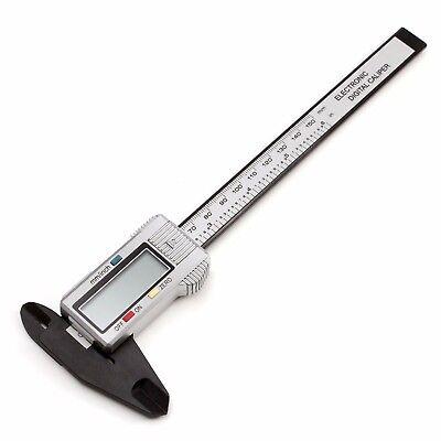 6in 150mm Carbon Fiber Digital Lcd Electronic Ruler Vernier Caliper