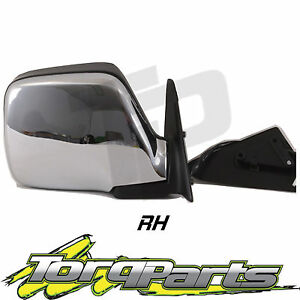 NEW-RH-TOYOTA-LANDCRUISER-80-SERIES-CHROME-ELECTRIC-DOOR-REAR-VISION-SIDE-MIRROR