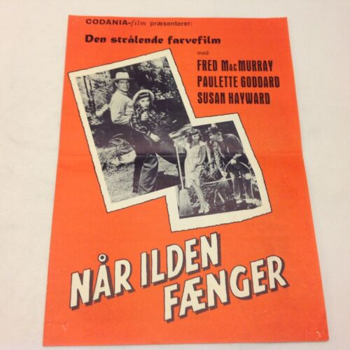 The Forest Rangers MacMurray Goddard Hayward Vtg 1942 Danish Movie Press Release