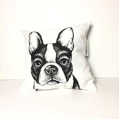 Bulldog Toss Pillow - Mainstays 16 x 16 Toss Pillow Bulldog Black White Indoor Outdoor Fade Resistant
