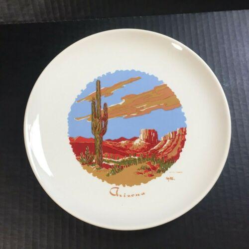 "Rare Vintage ARIZONA State Souvenir Collector Plate 9"" H.H. Tammen Art"