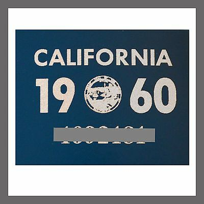 1960 California Yom Dmv Car Truck Trailer License Plate Sticker   Tag Ca 1956 60