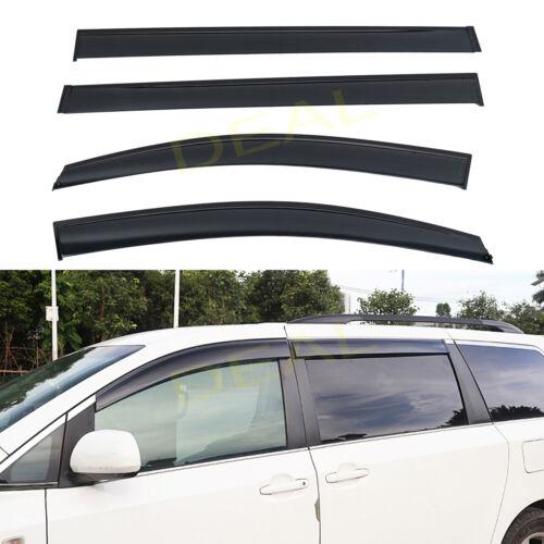 Smoke Window Vent Visor Rain Guard Wind Deflector For 2011-2020 Toyota Sienna