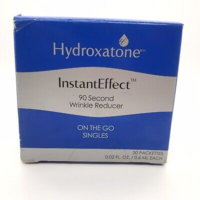 Hydroxatone Instant Effect 90 Second Wrinkle Reducer 30 Pack Singles New in box