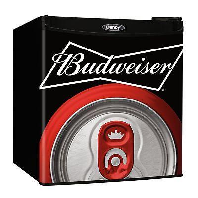 Danby Budweiser Beer Condensed Refrigerator Dorm Home Beverage Cooler Mini Fridge