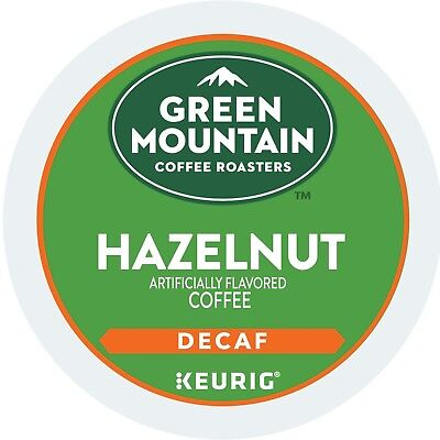 Green Mountain Hazelnut DECAF Coffee 24 to 120 Count Keurig Kcups Pick Any Size