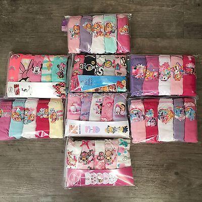 Ariel Unterwäsche (5 Pairs Girls Toy Story Jasmine TinkerBell Ariel Emoji Knickers Briefs Age 1- 12)