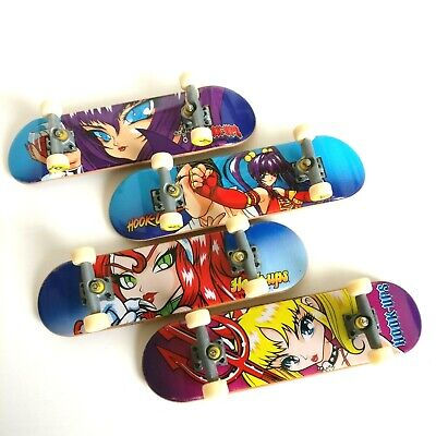 Tech Deck HOOK-UPS / Hook Ups Mini Skateboards Manga Anime Set Of 4 - RARE  (Anime Skateboard Deck)