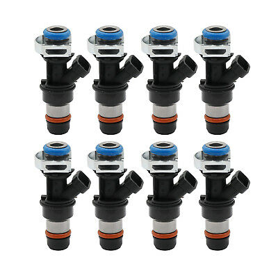 8x Fuel Injectors 4 Hole For 01-07 GM Chevy GMC Cadillac 4.8L 5.3L 6.0L 17113553