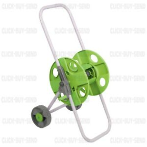 SILVERLINE HOSE PIPE TROLLEY PORTABLE CART REEL GARDEN HOSEPIPE 45M CAPACITY