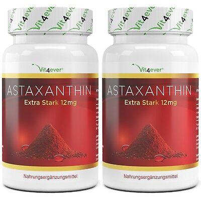 12 X 12 Natürliche (2x Astaxanthin 12 mg = 140 Softgel Kapseln - natürlicher Antioxidant Softgels)