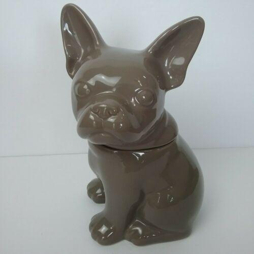 French Bulldog Threshold Grey Cookie Jar Dog Puppy STONEWARE
