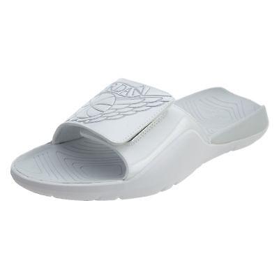 Nike Jordan Hydro 7 Mens Slides Sandles Black Gold White Retro AA2517 021 NIB