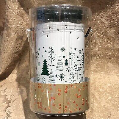Yankee Candle WINTER TREES BALSAM & CEDAR TEALIGHT CANDLE LUMINARY SET NIB
