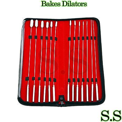 Set Of 13 Pc Bakes Rosebud Dilators Urethral Surgical Instruments