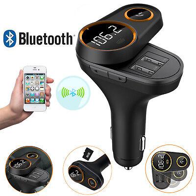 2018 Modell Auto Bluetooth FM Transmitter KFZ Musik MP3 Player Dual USB Adapter