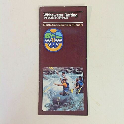 Vtg 1983 North American River Runners Souvenir Color Whitewater Rafting Brochure