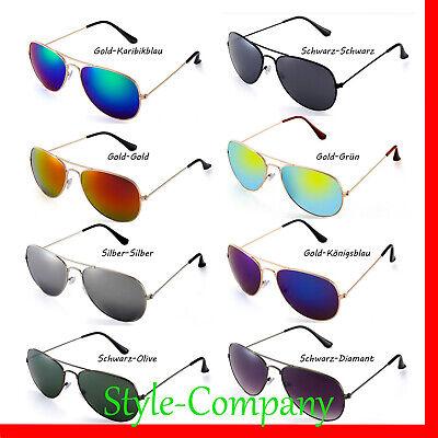 Sonnenbrille Pilotenbrille Verspiegelt Nerd Fliegerbrille Party Brille UV400