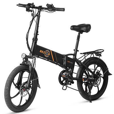Bicicleta EléCtrica Plegable 350W Y 20 Pulgadas, Ciclomotor Batería 10.4AH D2K2