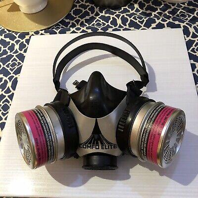 Msa Silicone Comfo Elite Half-mask Respirator Facepiece Pn 487905 Size M