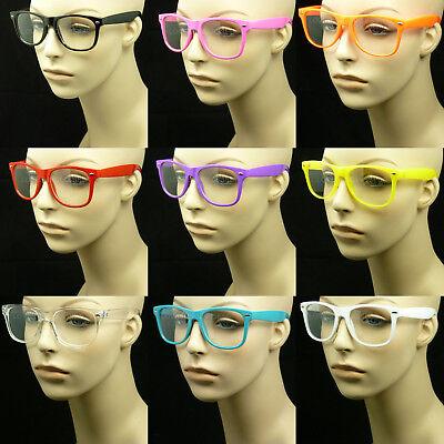Clear lens glasses nerd geek fake eye wear men women fashion hipster frame style