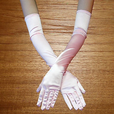 Long Opera Length Costume Gloves pink ~ HALLOWEEN WEDDING PROM DANCE PARTY