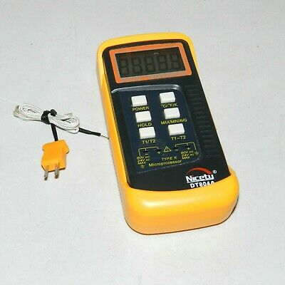 Scientific Digital Thermometer Sensor Probe K-type Hvac Tool Temperature