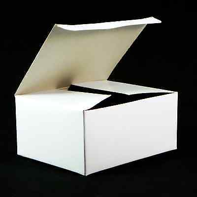 10x White Chipboard Gift Box 4w X 3d X 2h Automatic Bottom Tuck Lid 998-001