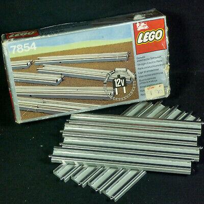Vintage Lego 7854 8x 12v Straight Electric Rails Train Set Track Unopened Box