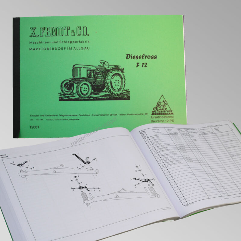 Fendt Ersatzteilliste für FIX 2 / 2 E Traktor Schlepper 12001 Foto 1