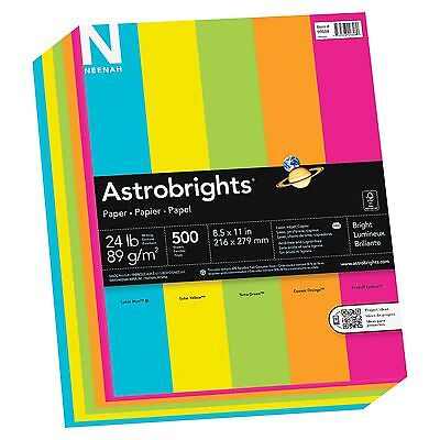 Astrobrights Colored Paper - For Inkjet Laser Print - Letter - 8.50 X 11 - 24