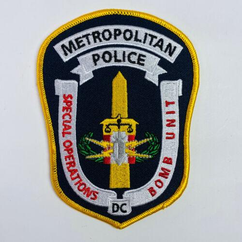 Bomb Unit Special Operations Metropolitan Police Washington DC Patch