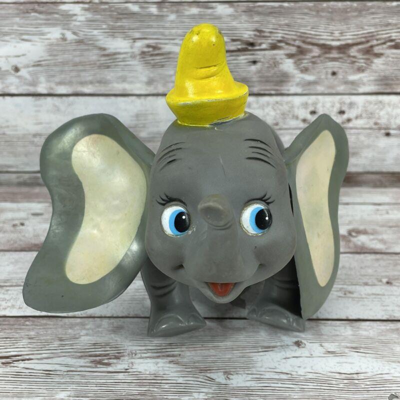 Vintage R Dakin Company Plastic Dumbo Elephant Circus Walt Disney Productions