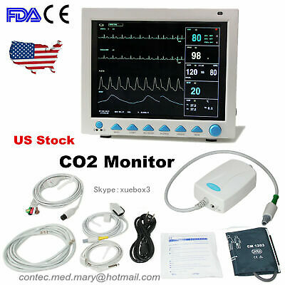 Fdace Icu Patient Monitor Etco2 Capnograph Sidestream Vital Signs 7-parameter