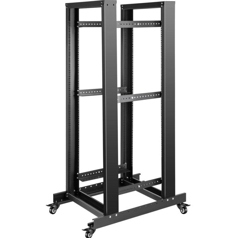 "VEVOR Open Frame Server Rack Network Server Rack 27U 4 Post 19"" Steel Relay Rack"