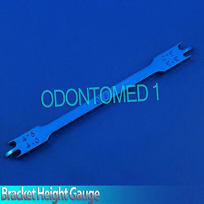 Blue 018 Dental Bracket Positioning Height Gauges Orthodontic Instruments