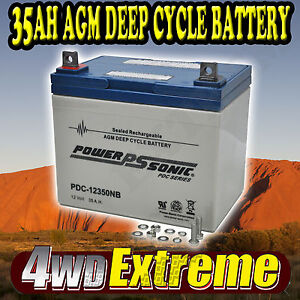 PDC12350NB 35AH BATTERY AGM SLA 12 VOLT 12V DEEP CYCLE  GOLF CART 33ah BUGGY