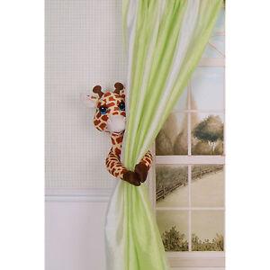 curtain critters baby jungle safari zoo nursery giraffe curtain tieback 1 ebay