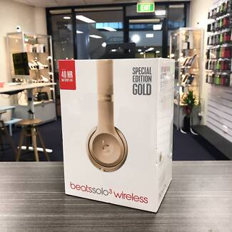 Brand new sealed Beats Solo 3 wireless gold AU model + warranty.
