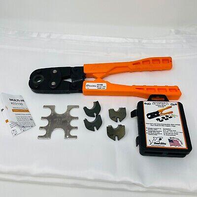 Sharkbite Pex Crimp Tool Kit 23100 For 38 12 34 1 Copper Rings Used