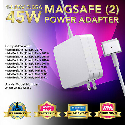 """AC Adapter Charger 45W for Apple Macbook Air 11"""" 13"""" MD224 MD232 2016 2017 2015"""
