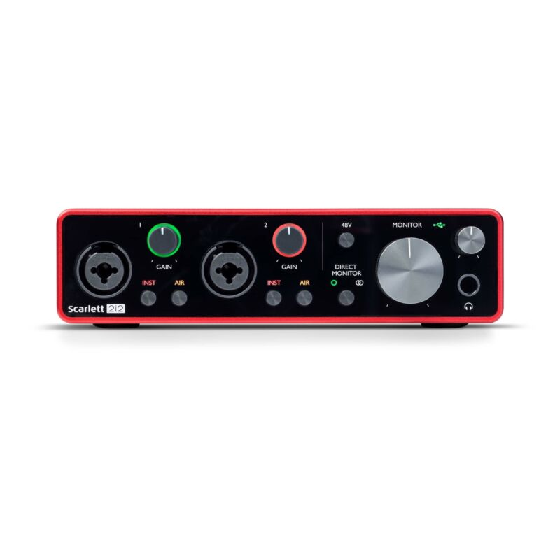 Focusrite Scarlett 2i2 3rd Gen 2-In, 2-Out USB Audio Interface